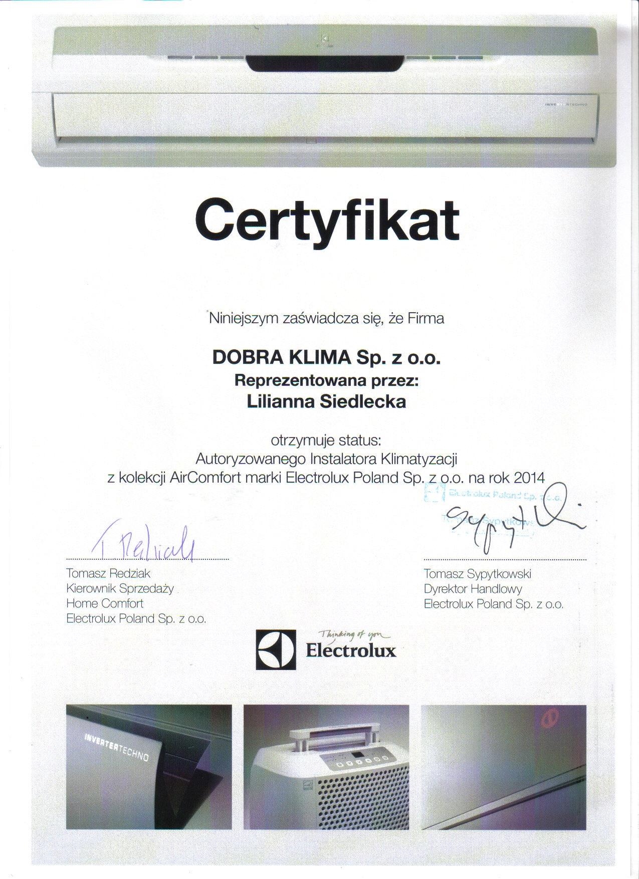 2014-certyfikat-electrolux