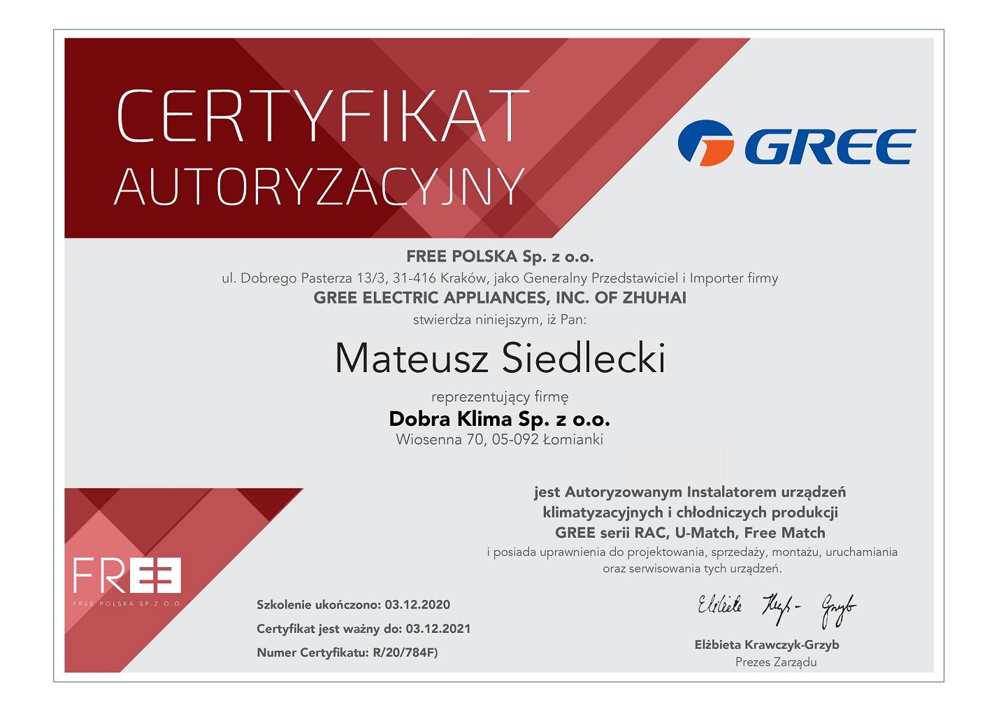2020-certyfikat-gree-mateusz-siedlecki