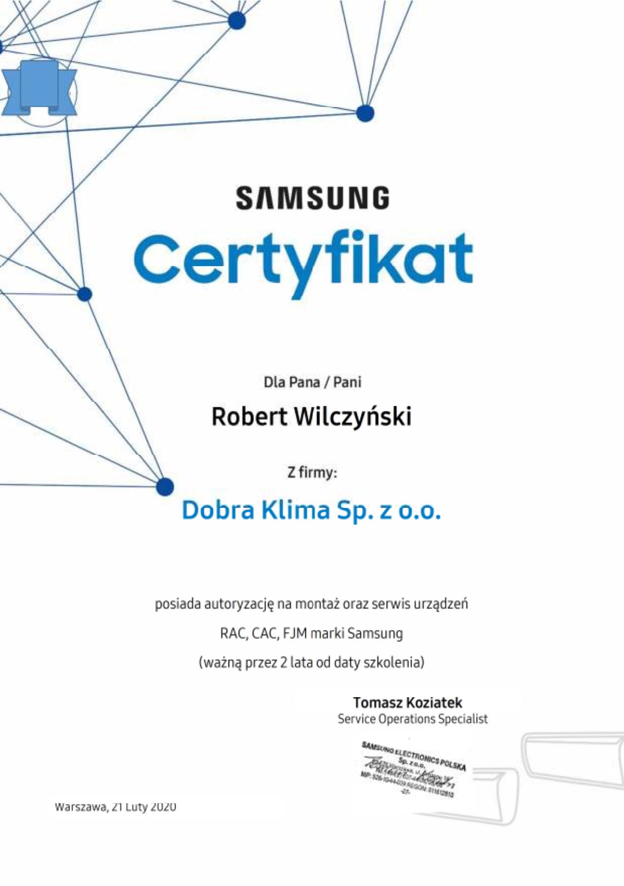 2020-certyfikat-samsung2-robert-wilczynski